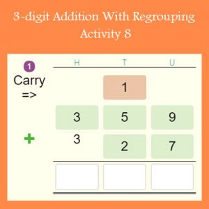 3-digit Addition With Regrouping Activity 8