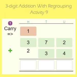 3-digit Addition With Regrouping Activity 9 3-digit Addition With Regrouping Activity 9