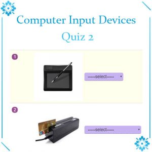 Computer Input Devices Quiz 2 Computer Input Devices Quiz 2