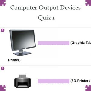 ICT Computer Output Devices Quiz 1