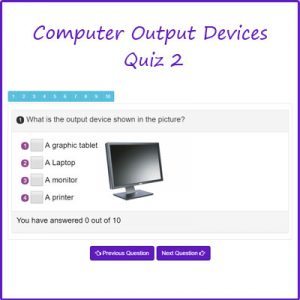 Key Stage One Computer Output Devices Quiz 2