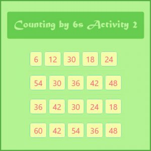 Key Stage Two Counting by 6s Activity 2