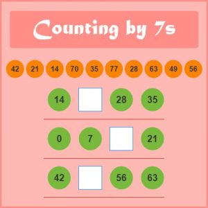 Key Stage Two Counting by 7s