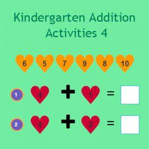 Kindergarten Addition Activities 4 Kindergarten Addition Activities 4