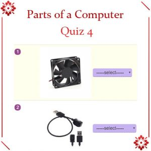 Key Stage Two Parts of a Computer Quiz 4