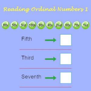 Reading Ordinal Numbers 3 Reading Ordinal Numbers 3