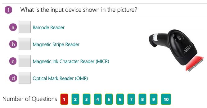 Computer Input Devices Quiz 1