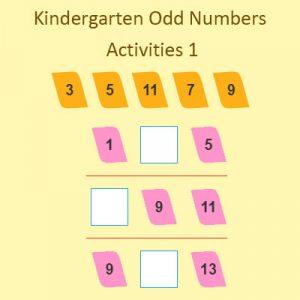 kindergarten odd numbers