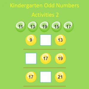 Kindergarten Odd Numbers Activities 2 Kindergarten Odd Numbers Activities 2