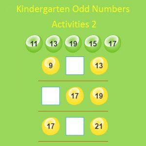kindergarten odd numbers activities