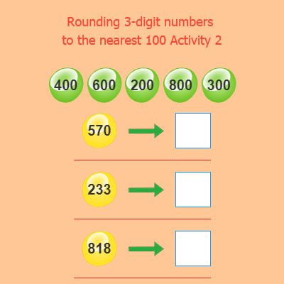 Rounding 3 digit numbers to the nearest 100 Activity 2