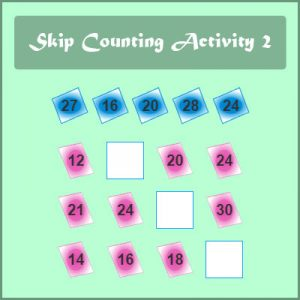 Missing Addend Worksheet 5 Skip Counting Activity 2