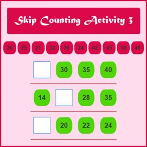 Subject and Predicate of a Sentence Skip Counting Activity 3