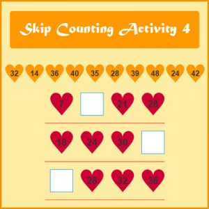 Subject and Predicate of a Sentence Skip Counting Activity 4