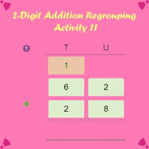 2 Digit Addition Regrouping Activity 11
