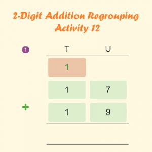 2 Digit Addition Regrouping Activity 12 2 Digit Addition Regrouping Activity 12