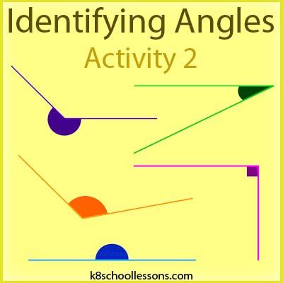 Identifying Angles Flashcard Activity 2