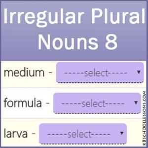 Irregular Plural Nouns 8 Irregular Plural Nouns 8