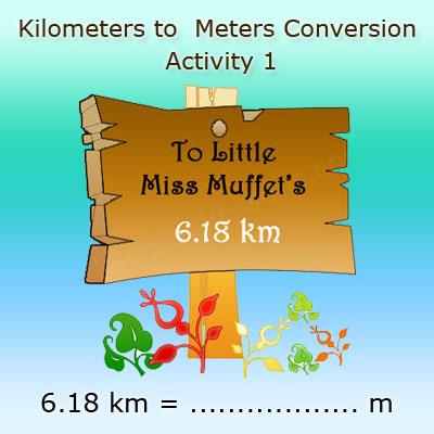 Converting kilometres into meters Activity 1