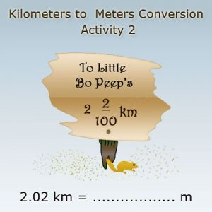 Converting kilometres into meters Activity 2 Converting kilometres into meters Activity 2