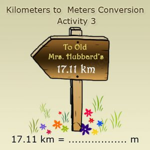 Key Stage Two Converting kilometres into meters Activity 3