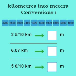 Key Stage Two kilometres into meters Conversions 1