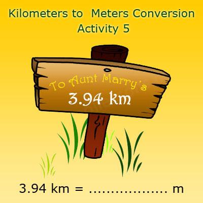 Converting kilometres into meters Activity 5