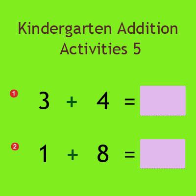 Kindergarten Addition Activities 5