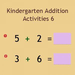 Kindergarten Addition Activities 6 Kindergarten Addition Activities 6