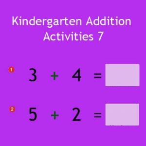 Kindergarten Addition Activities 7 Kindergarten Addition Activities 7