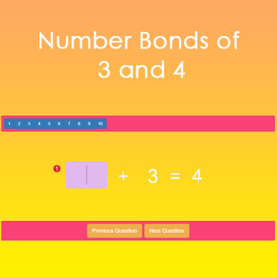 Number Bonds of 3 and 4 Number Bonds of 3 and 4