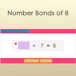 Number Bonds of 8 Number Bonds of 8