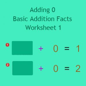 Adding 0 Basic Addition Facts Worksheet 1 Adding 0 Basic Addition Facts Worksheet 1
