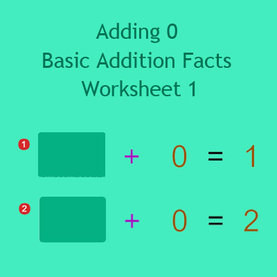Adding 0 Basic Addition Facts Worksheet 1 Adding 0 Basic Addition Facts Worksheet 1