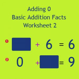 Adding 0 Basic Addition Facts Worksheet 2 Adding 0 Basic Addition Facts Worksheet 2