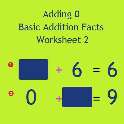 Adding 0 Basic Addition Facts Worksheet 2 Adding 0 Basic Addition Facts Worksheet 2