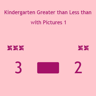 Kindergarten Greater than Less than with Pictures 1