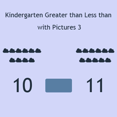 Kindergarten Greater than Less than with Pictures 3 Kindergarten Greater than Less than with Pictures 3