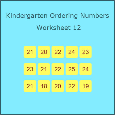 Kindergarten Ordering Numbers Worksheet 12 Kindergarten Ordering Numbers Worksheet 12