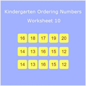 Kindergarten Ordering Numbers Worksheet 10 Kindergarten Ordering Numbers Worksheet 10