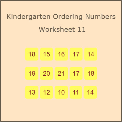 Kindergarten Ordering Numbers Worksheet 11 Kindergarten Ordering Numbers Worksheet 11