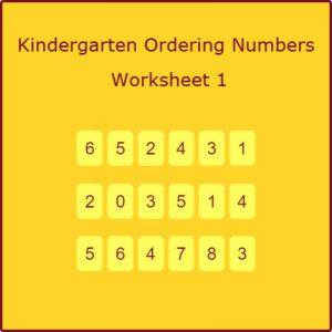 Kindergarten Ordering Numbers Worksheet 1 Kindergarten Ordering Numbers Worksheet 1
