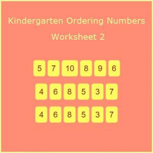 Kindergarten Ordering Numbers Worksheet 2 Kindergarten Ordering Numbers Worksheet 2