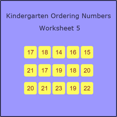 Kindergarten Ordering Numbers Worksheet 5 Kindergarten Ordering Numbers Worksheet 5