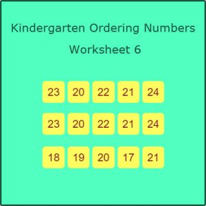 Kindergarten Ordering Numbers Worksheet 6 Kindergarten Ordering Numbers Worksheet 6