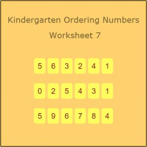 Kindergarten Ordering Numbers Worksheet 7 Kindergarten Ordering Numbers Worksheet 7