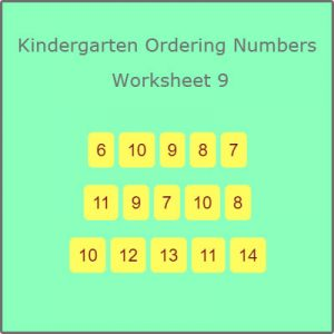 Kindergarten Ordering Numbers Worksheet 9 Kindergarten Ordering Numbers Worksheet 9