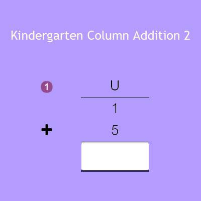 Kindergarten Column Addition 2
