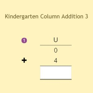 Kindergarten Column Addition 3