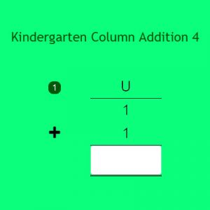 Kindergarten Column Addition 4 Kindergarten Column Addition 4